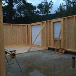 Timber Frame and Icynene Spray Foam set up