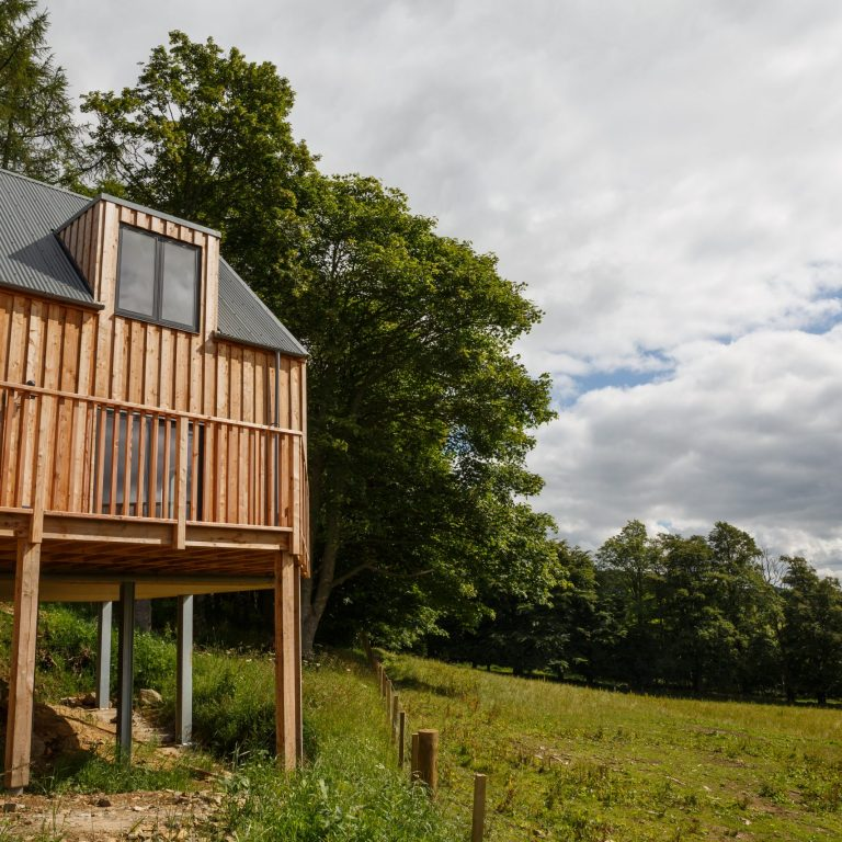 Scottish larch cladding exterior view